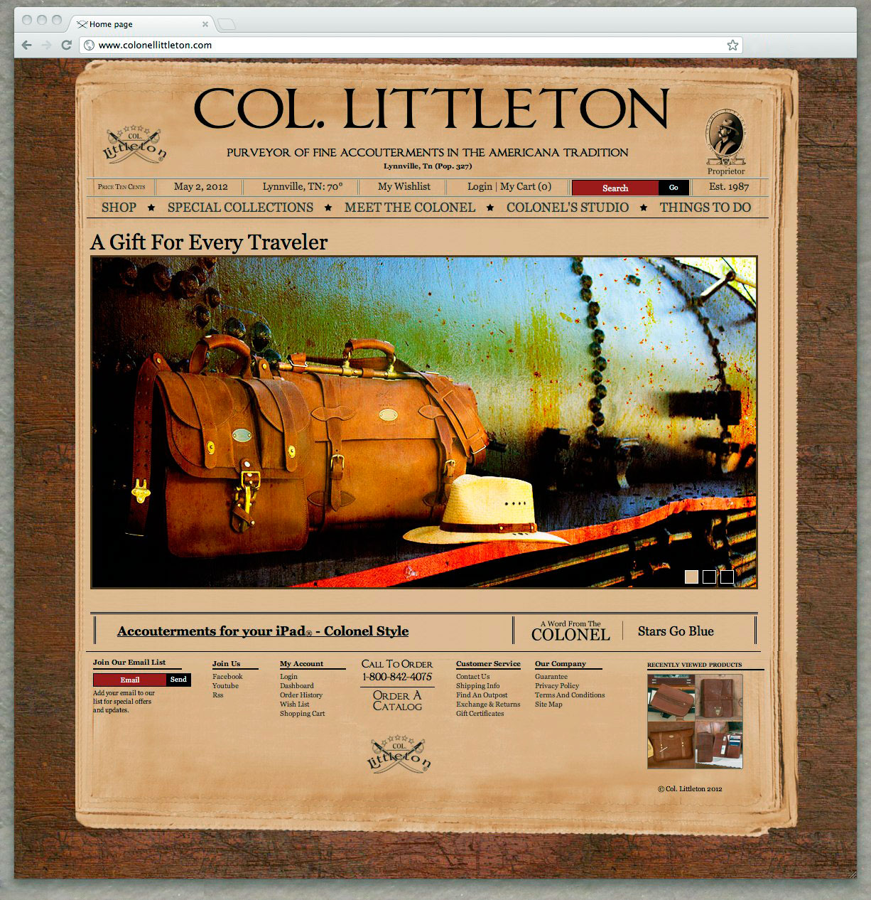Col. Littleton Homepage